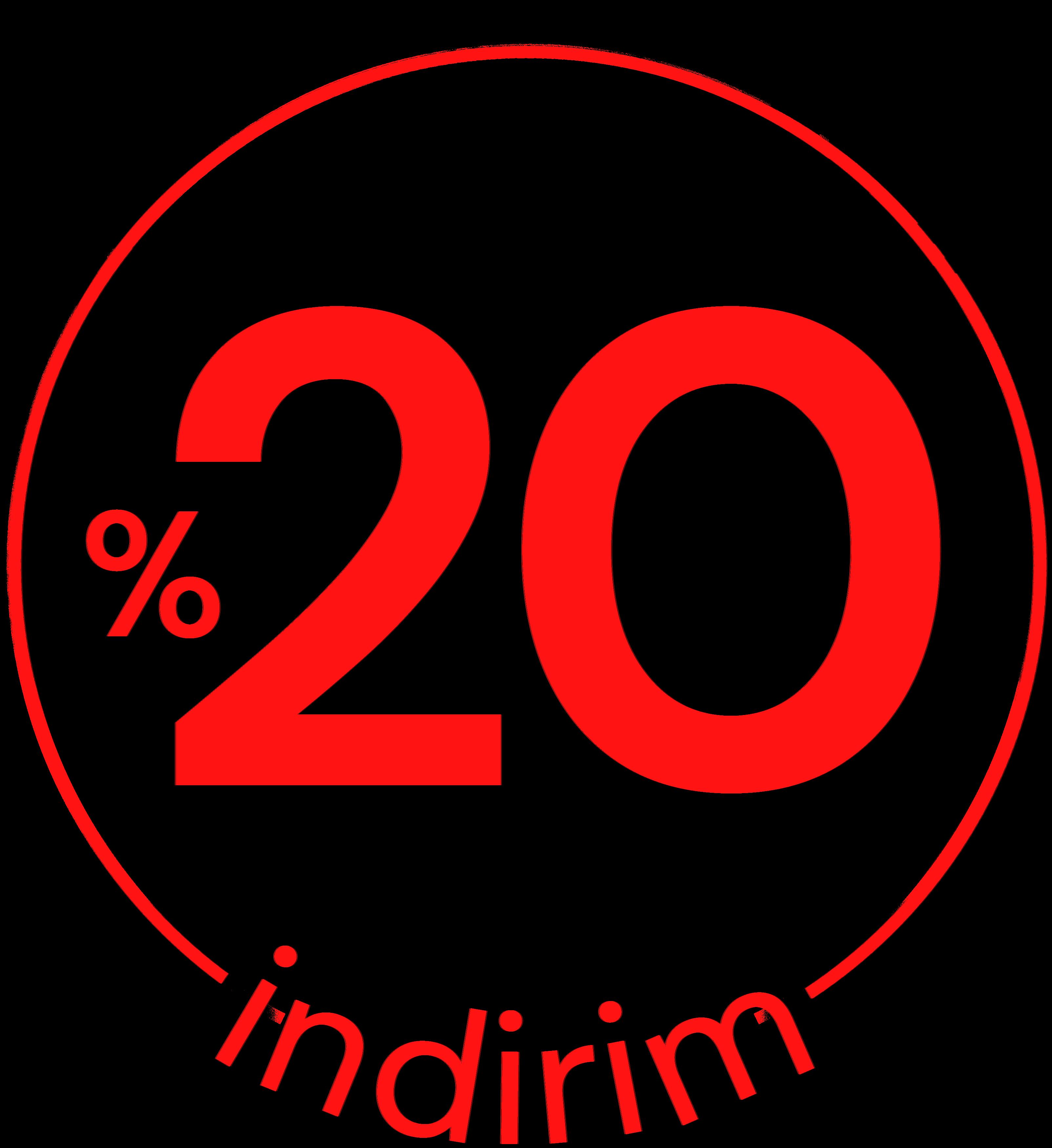 %20 İndirim