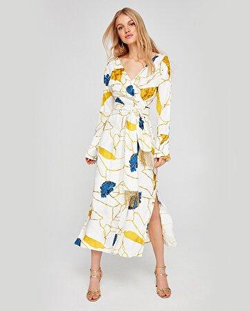 Anvelop Kapama Desenli Elbise
