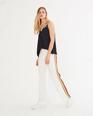 Yanı Renkli Şeritli Pantolon