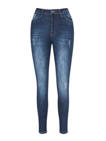 Yanları Sim Şeritli Skinny Jean Pantolon