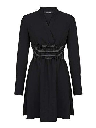 Uzun Kol Mini Elbise
