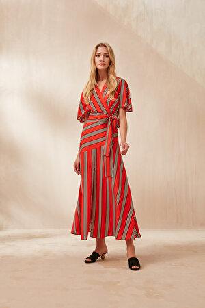 Anvelop Kapama Midi Boy Elbise