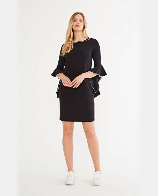Nocturne Yarım İspanyol Kol Detaylı Elbise