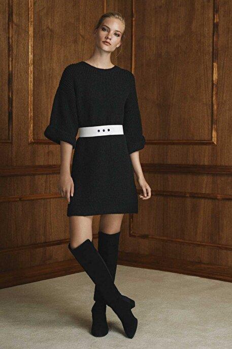 Nocturne Triko Kemerli Mini Elbise