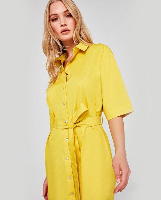 Nocturne Broş Detaylı Gömlek Elbise