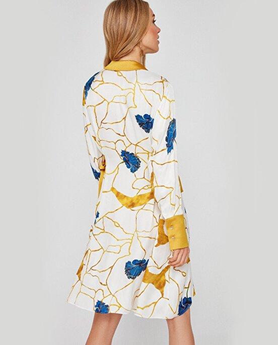 Nocturne Yan Detayı Kuşak Bağlamalı Gömlek Elbise