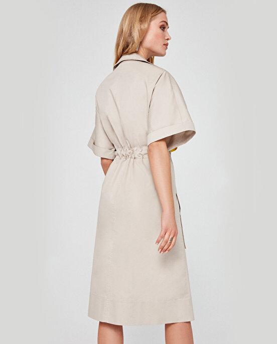 Nocturne Belden Büzgülü Gömlek Elbise