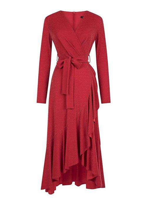 Nocturne Önden Kruvaze Bağlamalı Elbise