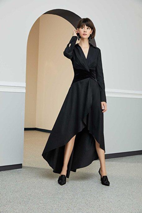Nocturne Kadife Detaylı Elbise