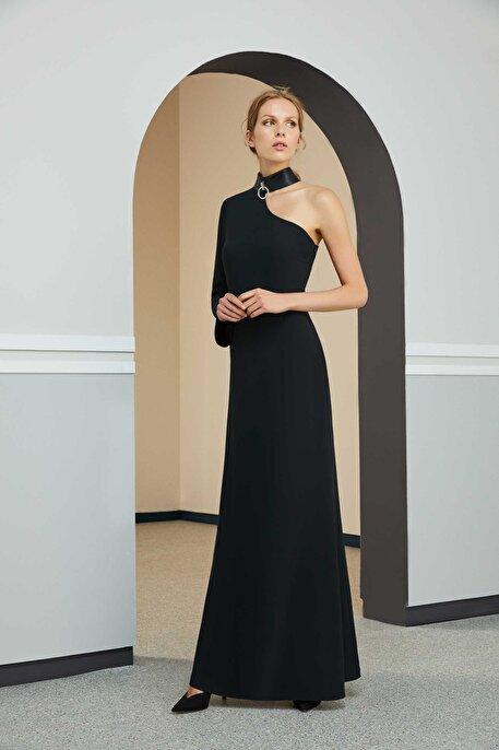 Nocturne Tek Kollu Uzun Elbise