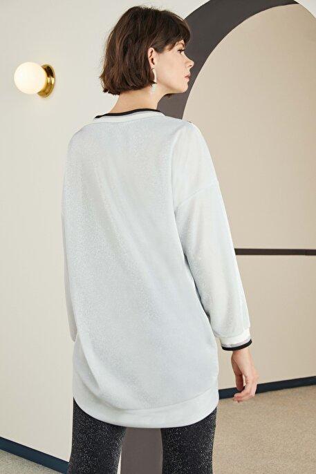 Nocturne Simli İplikli Sweatshirt