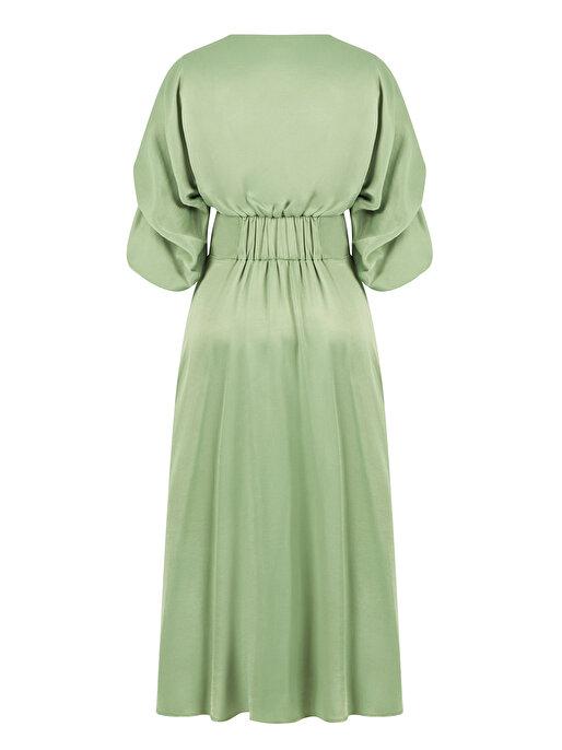 Nocturne Nakışlı ve İnci İşlemeli Elbise
