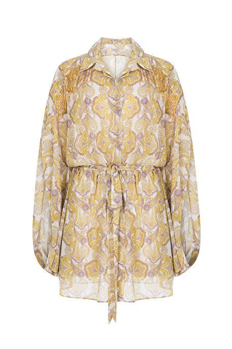 Nocturne Boncuk İşlemeli Desenli Bluz