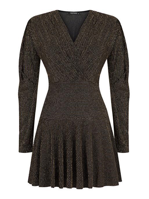 Nocturne Sim İplikli Mini Elbise