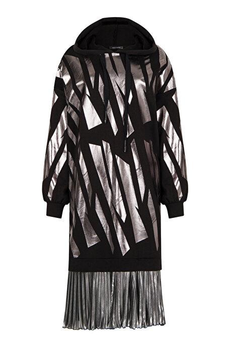Nocturne Pilili Kapüşonlu Elbise