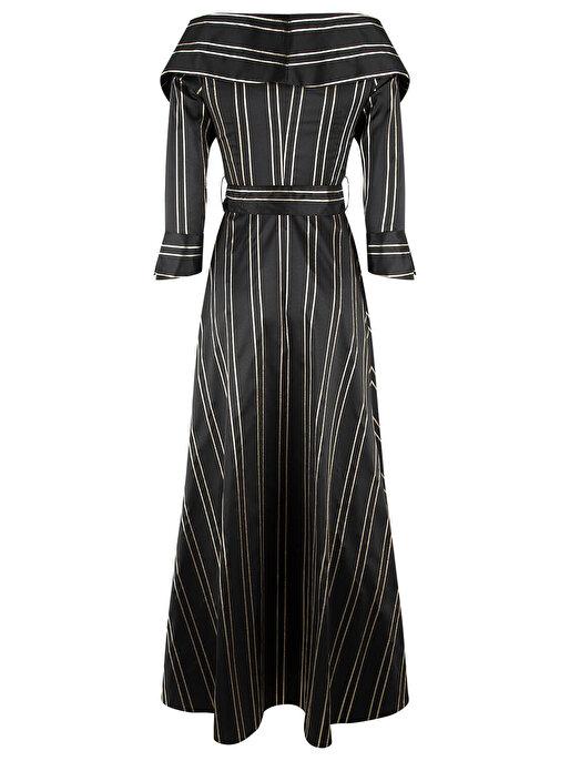 Nocturne Düşük Omuz Yırtmaçlı Elbise