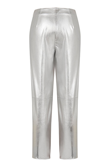 Nocturne Metalik Deri Pantolon