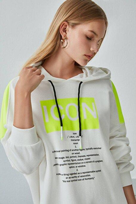Nocturne Baskı Detaylı Oversize Sweatshirt