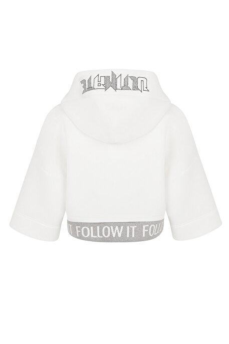 Nocturne Ribana Detaylı Crop Sweatshirt