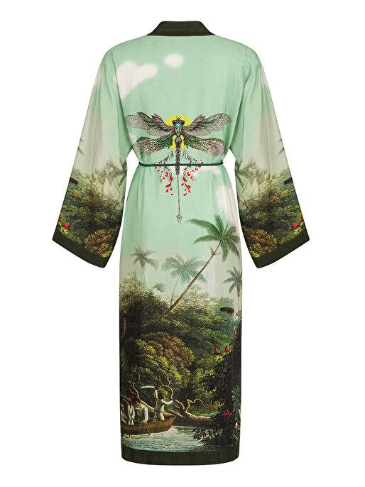 Nocturne Desenli Kimono