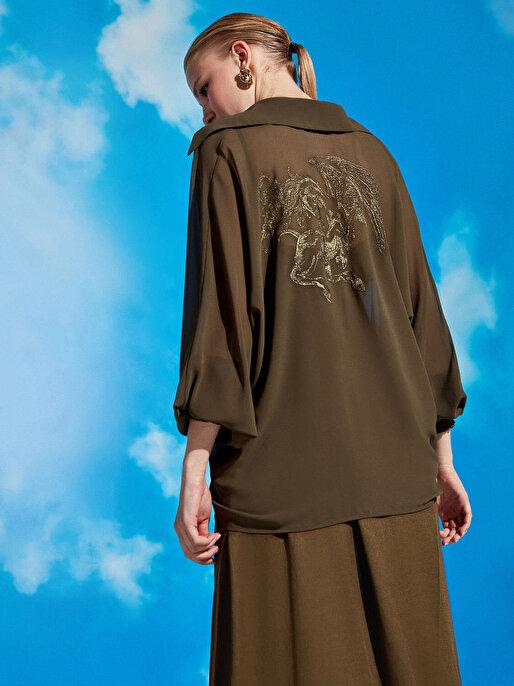 Nocturne Bağlamalı Gömlek Detaylı Elbise