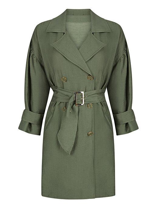 Nocturne Geniş Yaka Kruvaze Ceket Elbise