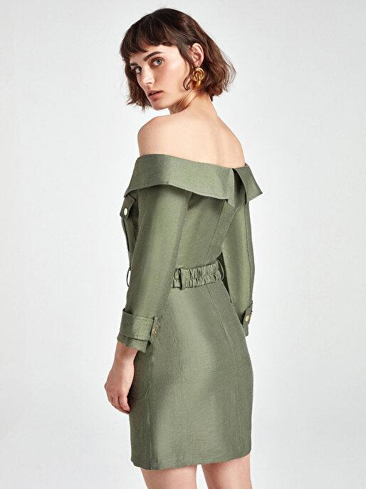 Nocturne Kayık Yaka Mini Elbise
