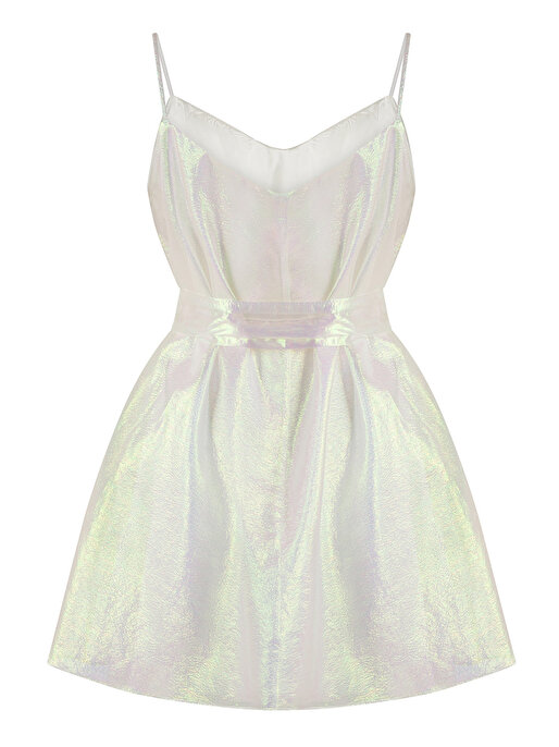 Nocturne Hologram Efektli Mini Elbise