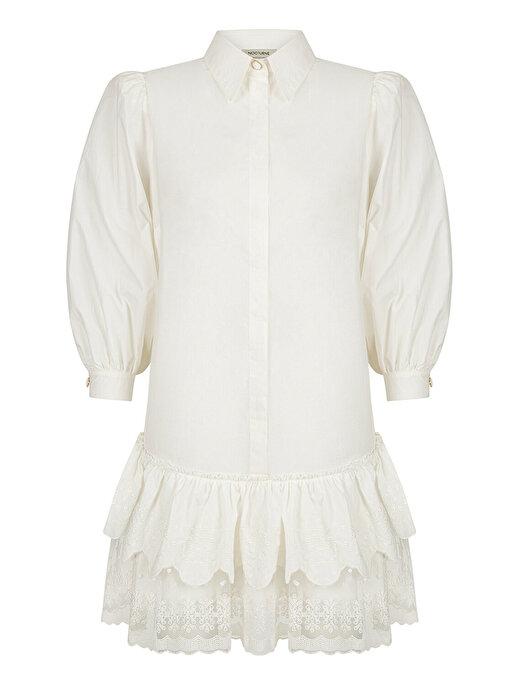 Nocturne Brodeli Mini Elbise