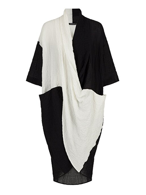 Nocturne Jakarlı Kontrast Renk Elbise