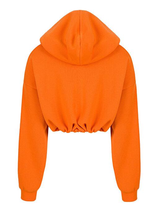 Nocturne Nakışlı Kısa Sweatshirt