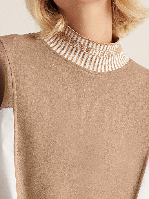 Nocturne Kontrast Renk Uzun Sweatshirt