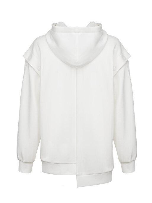 Nocturne Çıtçıt Detaylı Kapüşonlu Sweatshirt