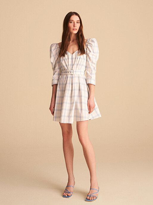 Nocturne Ekose Mini Elbise