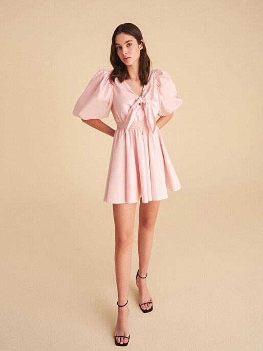 Nocturne Fiyonk Bağlamalı Mini Elbise
