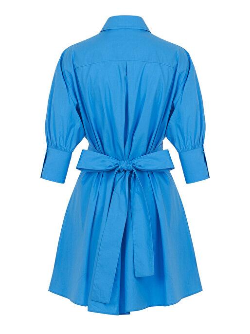 Nocturne Kuşaklı Poplin Mini Elbise