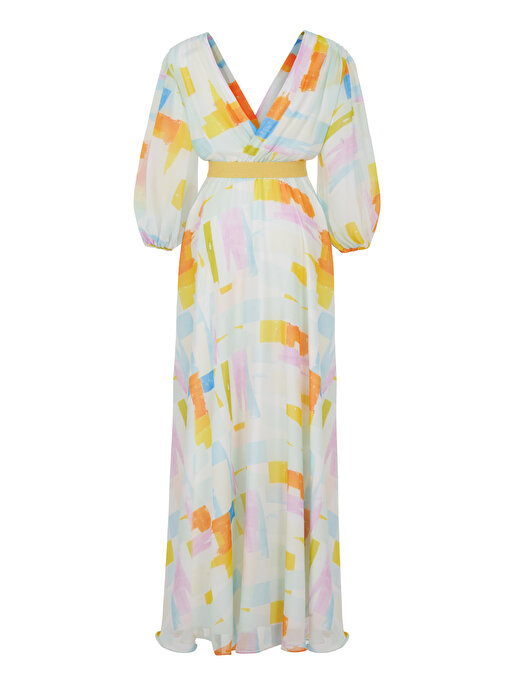 Nocturne Balon Kol Yırtmaçlı Elbise