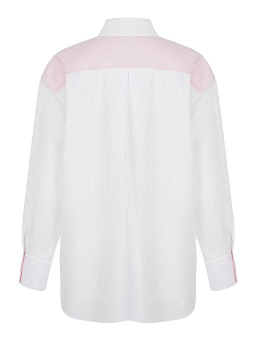 Nocturne Baskı Detaylı Oversize Gömlek