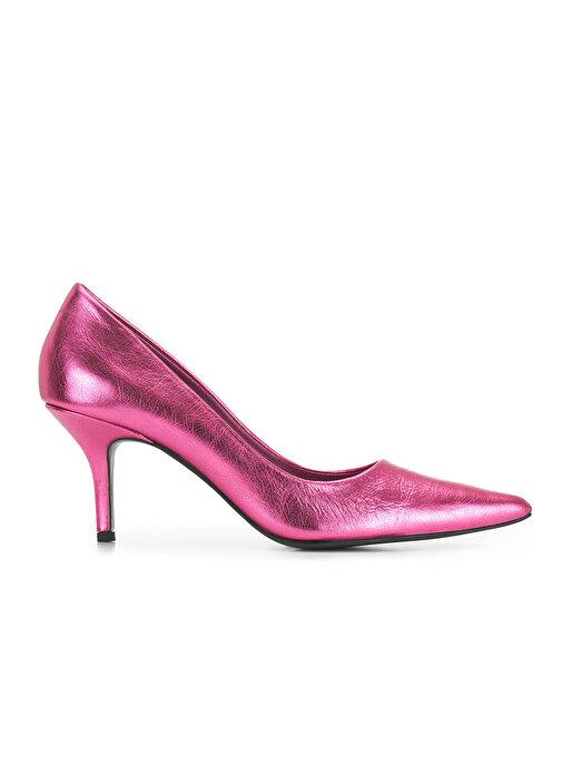 Nocturne Metalik Deri Topuklu Ayakkabı