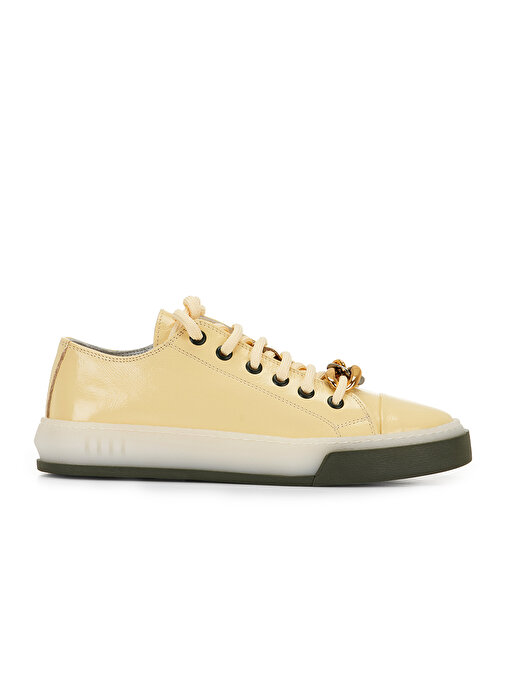 Nocturne Zincir Detaylı Kırışık Rugan Sneaker