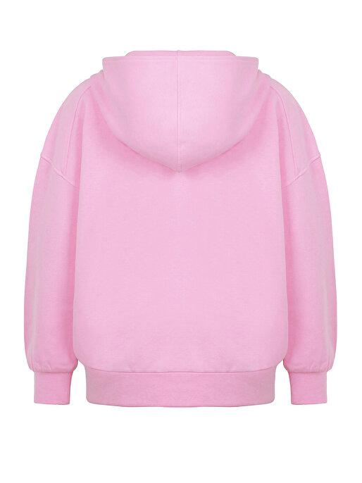 Nocturne Nakışlı Oversize Sweatshirt